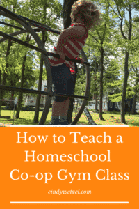 Child participating in Homeschool Co-op