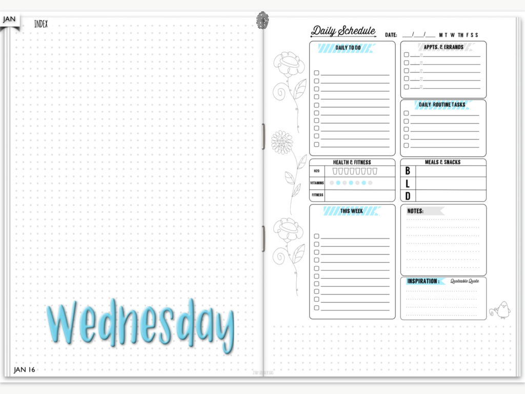 Digital Planner Daily Spread