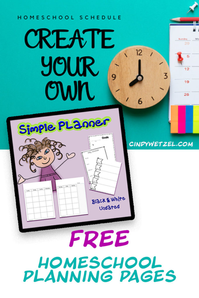 Homeschool Schedule and Free Planning Pages