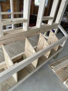 Chicken coop nest boxes