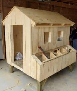 Coop almost ready for raising chickens