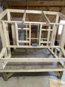 chicken coop framing
